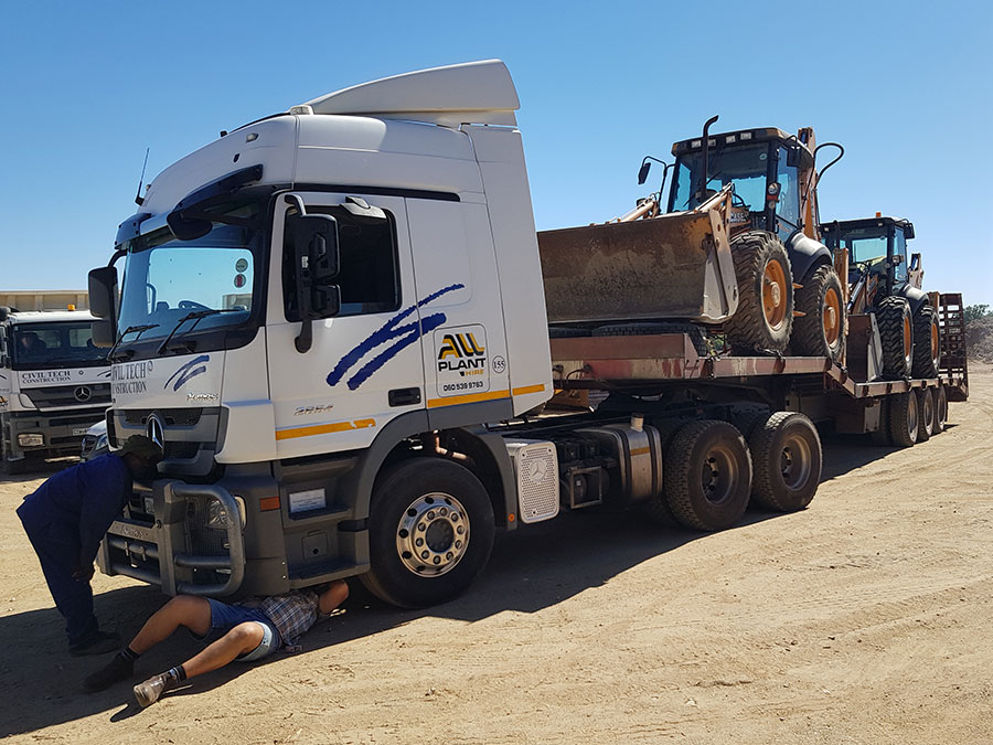 Onsite Servicing | All Plant Hire Northern Cape & Western Cape